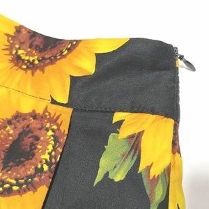 Sunflower Print A-line Skirt